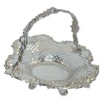 Silver Tiffany Pierced Basket. 506 g. Tiffany and Co., Mid 20th Century