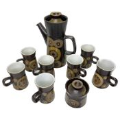 1970's Denby Arabesque pattern coffee service