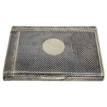 French Silver Niello Cigarette Case, Vesta, etc.166 g. French c.1900