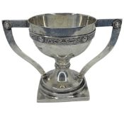 Irish Silver 2 Handled Trophy Cup. 193 g.J.M., Dublin 1941