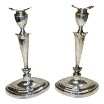 Pair of Silver Candlesticks. West and Son, London 1912