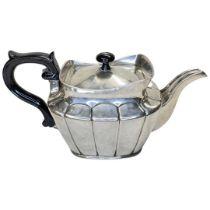 Large Swedish Silver Teapot. 963 g. Marks to Base.