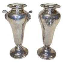 Pair of Silver Classical Style Urn Vases. 421 g. London 1928