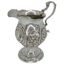 Embossed Silver Cream Jug. 75 g. Stokes and Ireland, Birmingham 1883