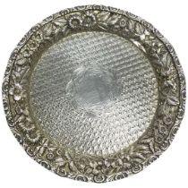 Gault & Bro Washington Silver Gilt Waiter Tray, 146 g.Marked 925 Sterling