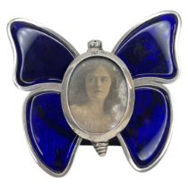 Silver and Enamel Butterfly Picture Frame. Henry Stuart Brown, London 1896.