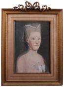 """Frankreich, um 1800. Damen-und Herren Portraits. Pastellkreide auf Papier. Rechts oben sign."""""""