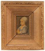 Kinderportrait. 19. Jh. Nachdruck. A. van Dyk. Portrait der Prinzessin Henrietta Anne. H: 15