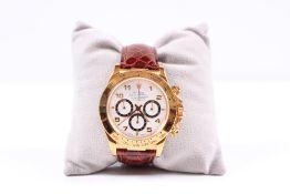 Rolex Armbanduhr. Daytona Oyster. Chronograph. GG, 750, Gew. 121 g. Datum, Wochentag, Zentral