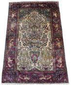 Wandteppich. Persien, Keschan. Sammlerstück, ca. 100 Jahre alt. Pflanzenfarben, reine Seide