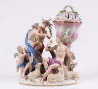 Figurengruppe. Meissen, 19. Jh. Urteil des Paris. Große Figurengruppe mit Hermes, dem trojan
