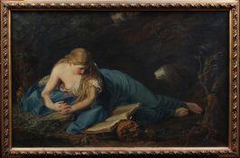 """Batoni, Pompeo Girolamo. Lucca 1708-1787 Rom. Kopie von Helene Schmidt. """"Die büssende Magdal"""