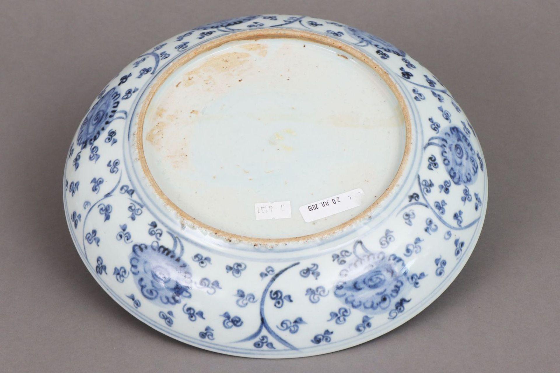 Chinesischer Porzellanteller im Stile Ming - Image 3 of 4