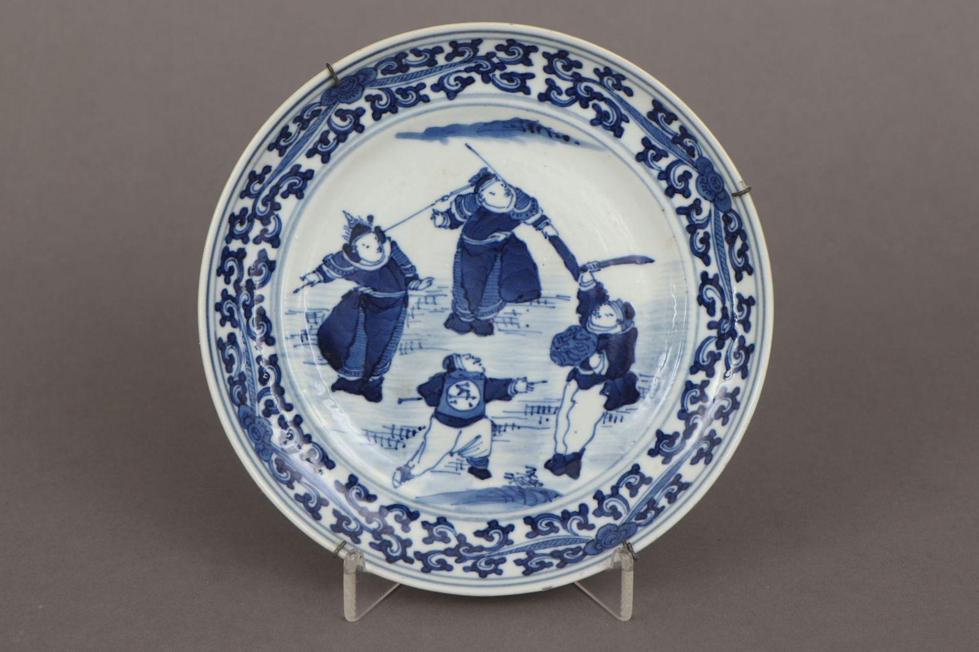 2 chinesische Porzellane mit Blaumalerei - Bild 2 aus 7