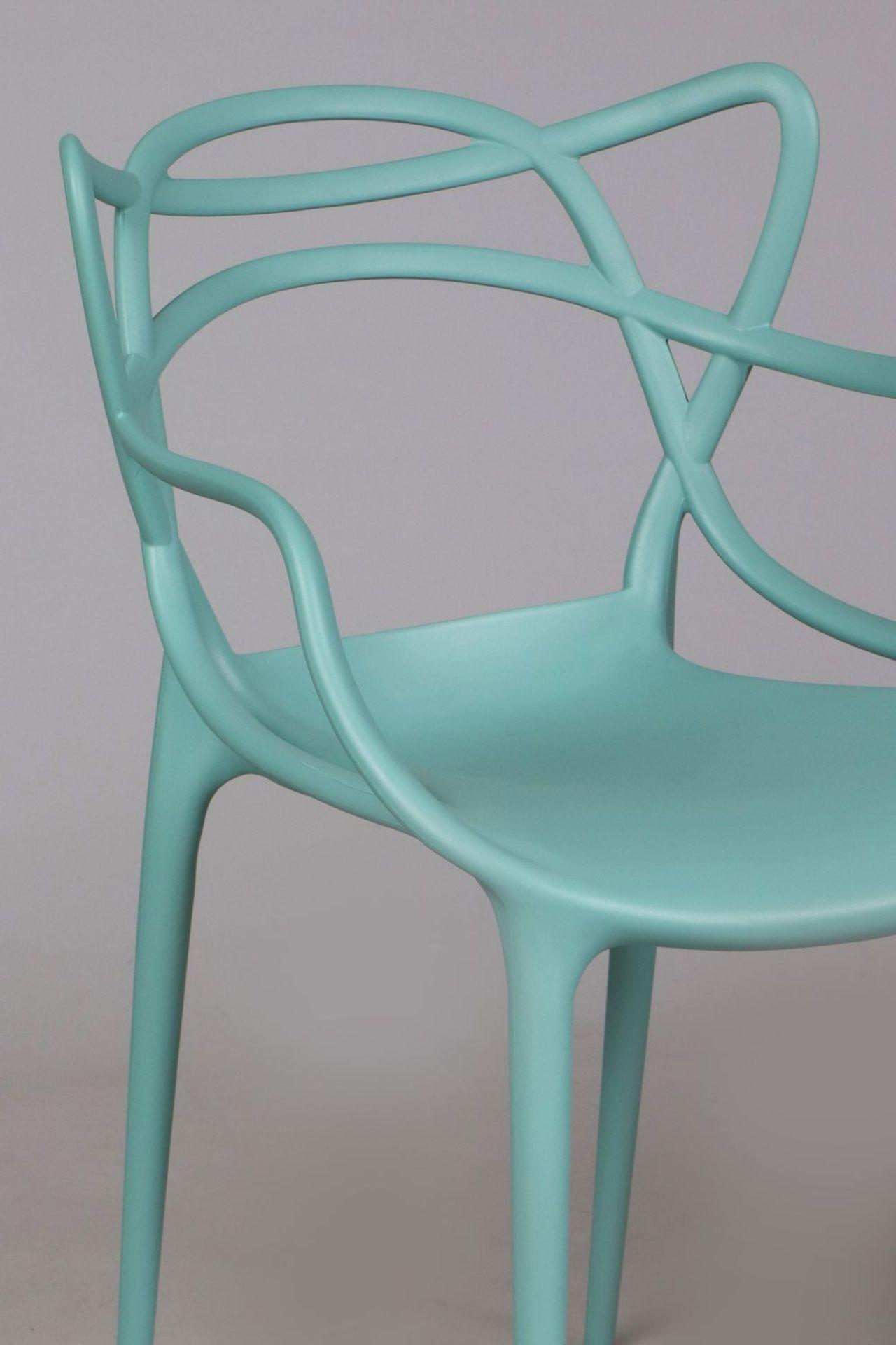 Paar Kunststoff Stühle nach einem Entwurf von Philippe Starck - Image 3 of 4