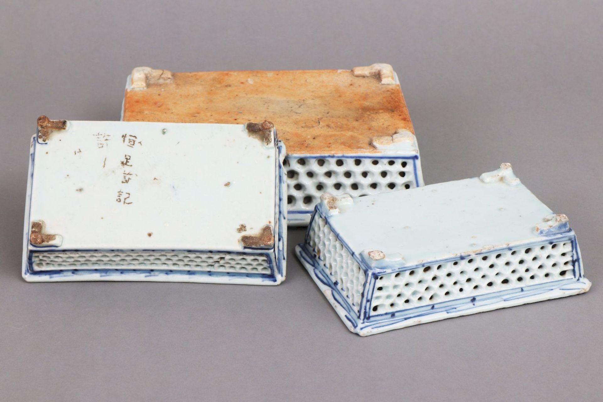3 chinesische Bonsai-Pflanzschalen - Image 3 of 4