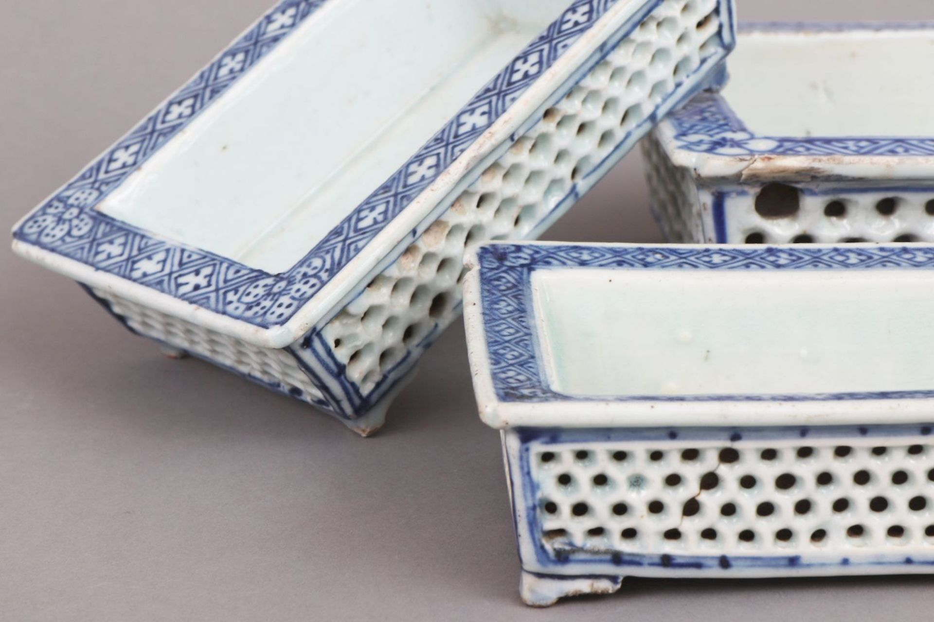 3 chinesische Bonsai-Pflanzschalen - Image 2 of 4