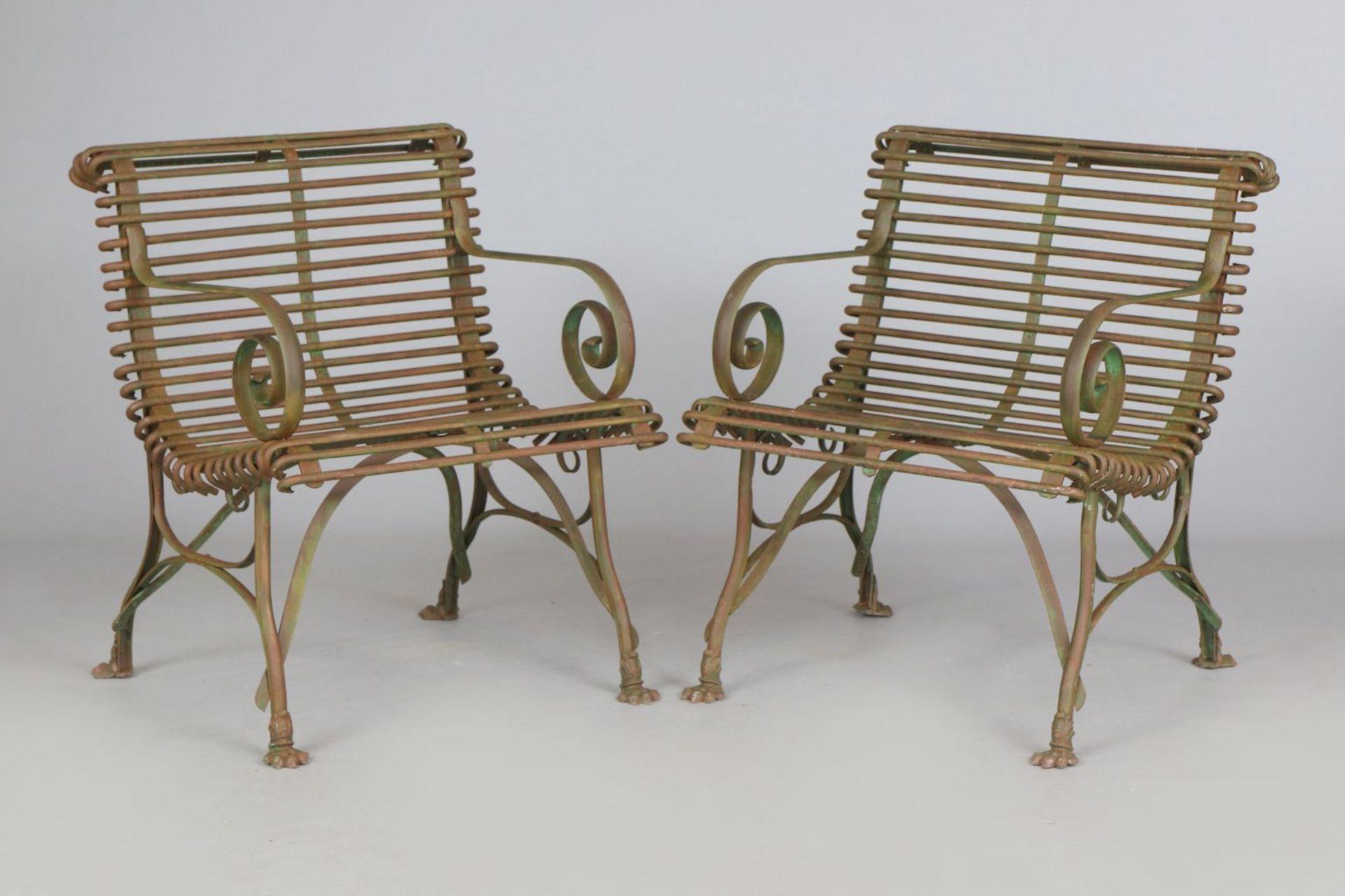 Paar Park-/Gartenstühle im Stile des 19. Jahrhunderts