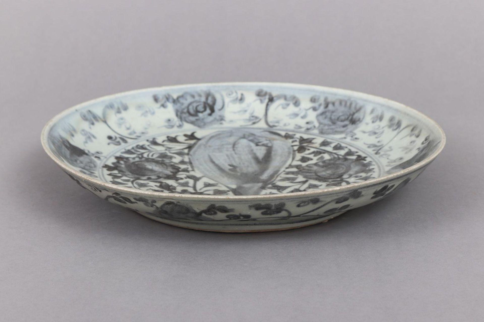 Chinesischer Porzellanteller mit Blaumalerei - Image 4 of 4