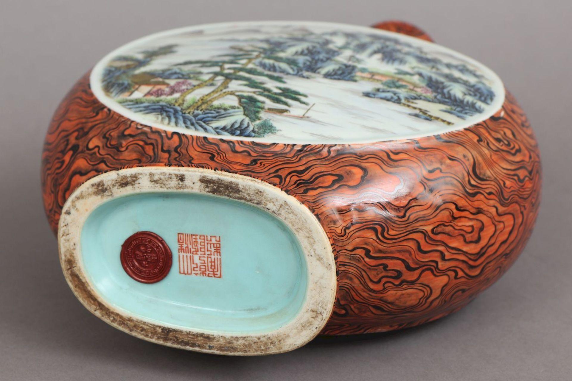 Chinesische Vase in Pilgerflaschen-Form - Image 5 of 5