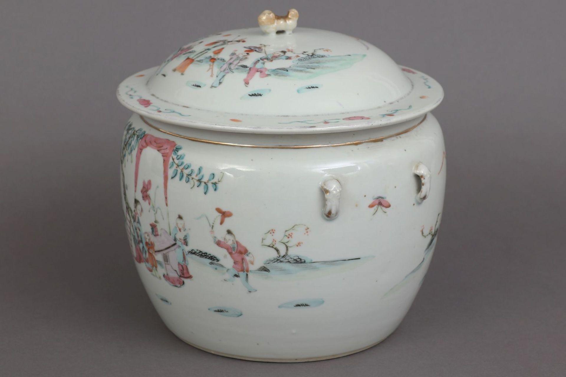 Chinesischer Porzellan Vorratstopf - Image 3 of 5
