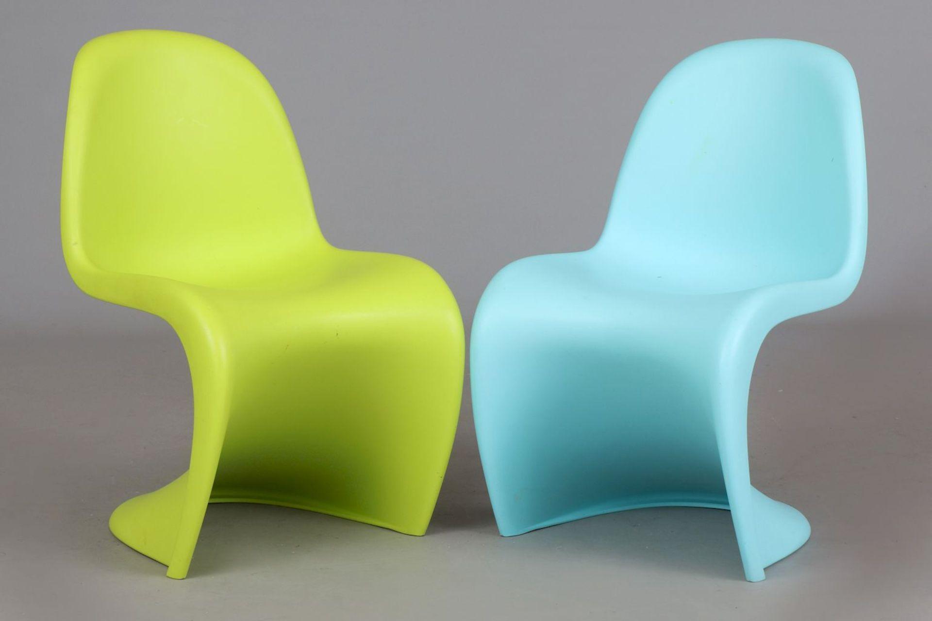 2 VERNER PANTON Kinder (Junior) ¨Panton Chairs¨ - Image 2 of 5