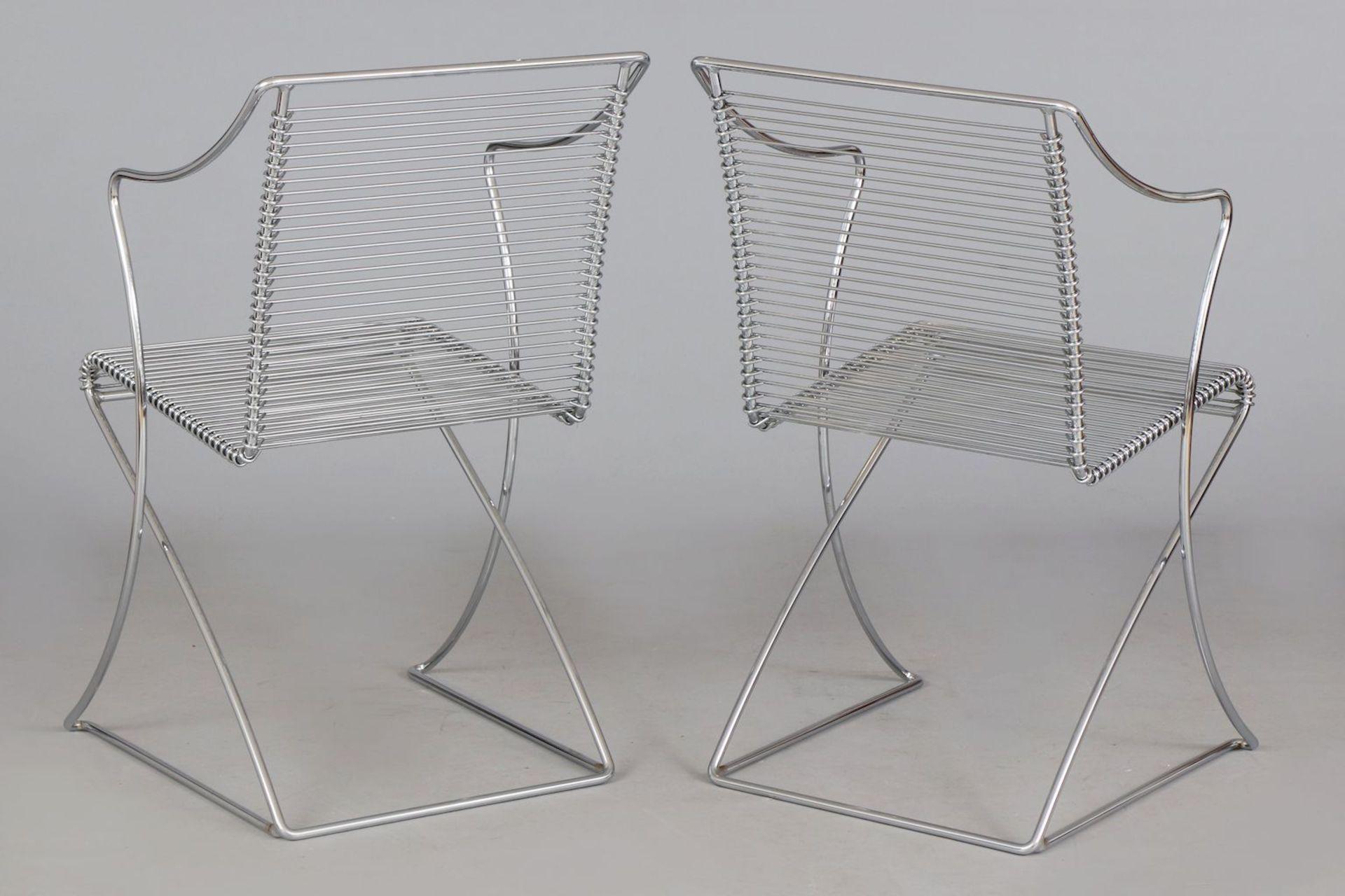 Paar TILL BEHRENS Kreuzschwinger-Stühle - Image 4 of 4