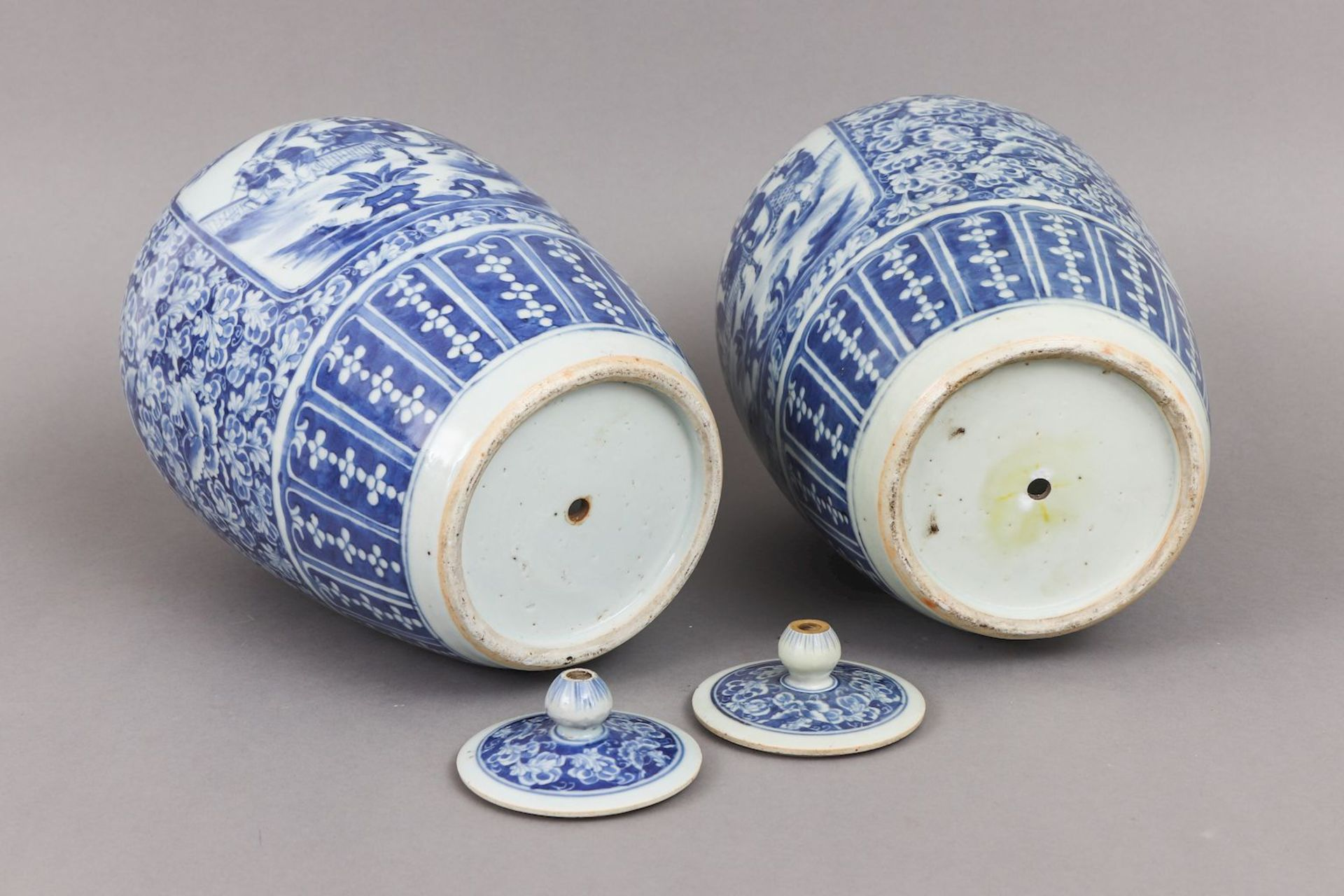 Paar chinesische Vorratsgefäße der Qing Dynastie (1644-1912) - Image 3 of 4