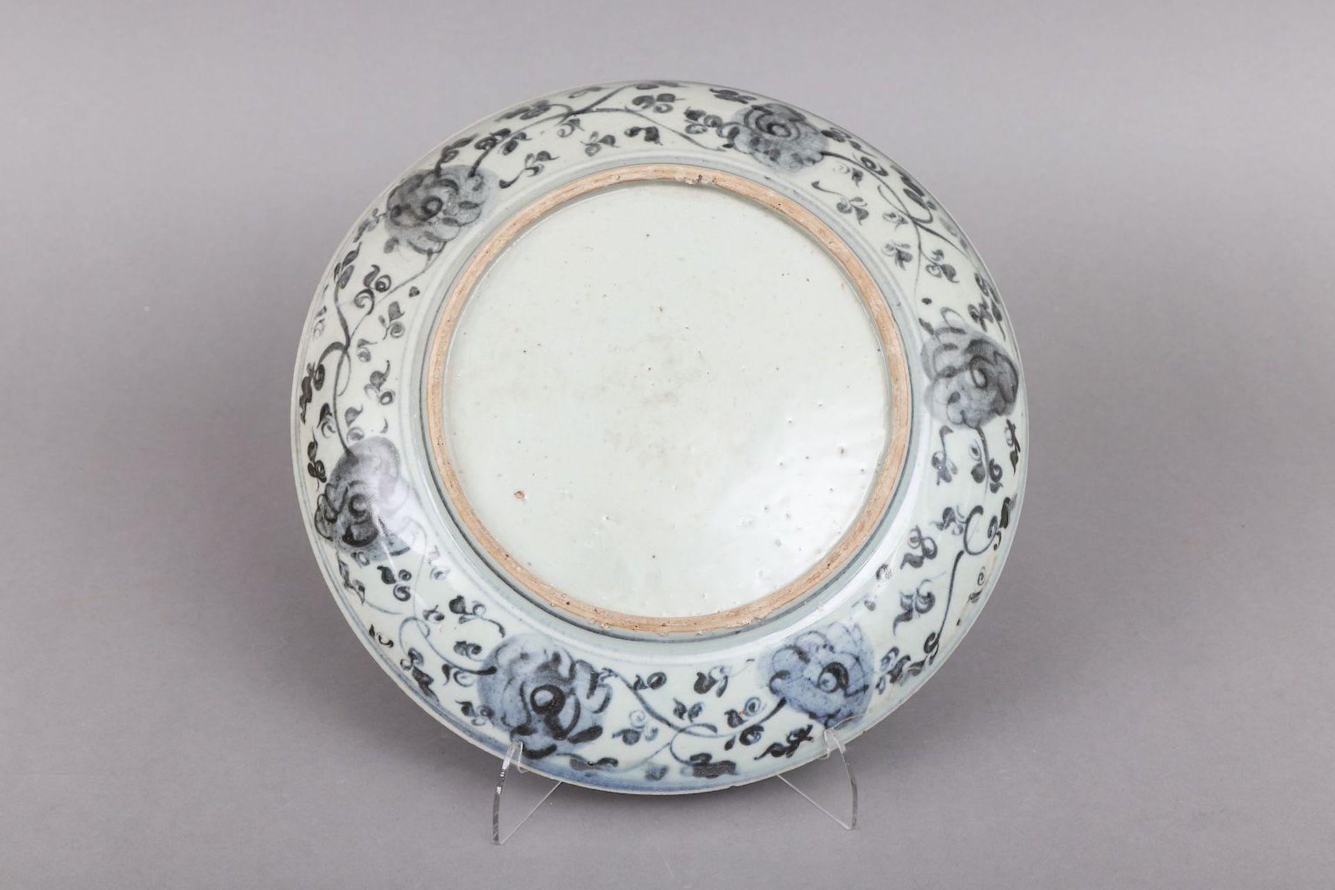 Chinesischer Porzellanteller mit Blaumalerei - Image 3 of 4
