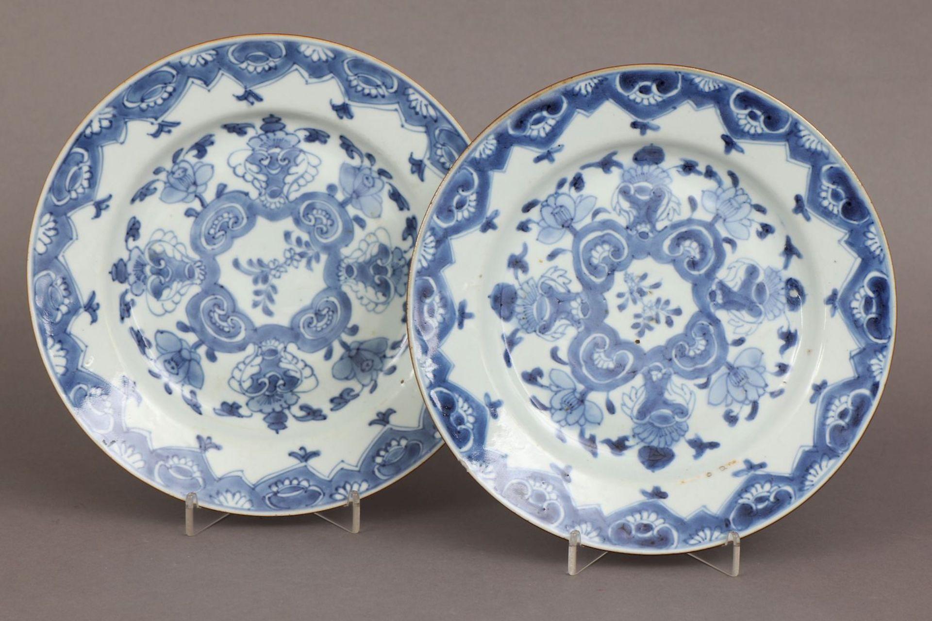 Paar chinesische Porzellanteller