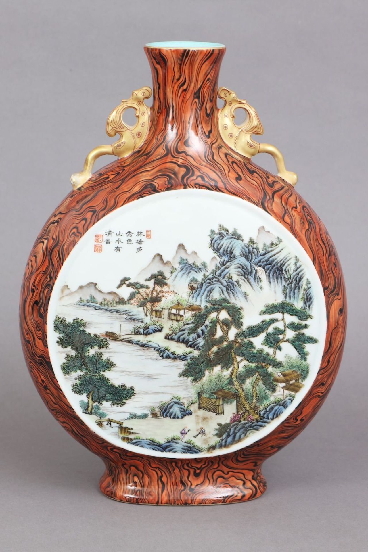 Chinesische Vase in Pilgerflaschen-Form
