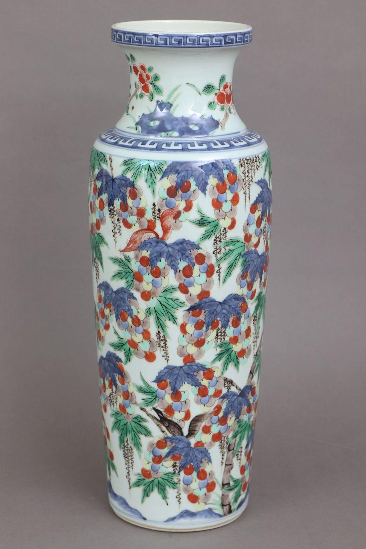 Chinesische Porzellanvase der Qing Dynastie (1644-1912) - Bild 2 aus 5