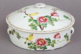 Chinesische Porzellan Deckeldose der späten Qing Dynastie (1644-1912)