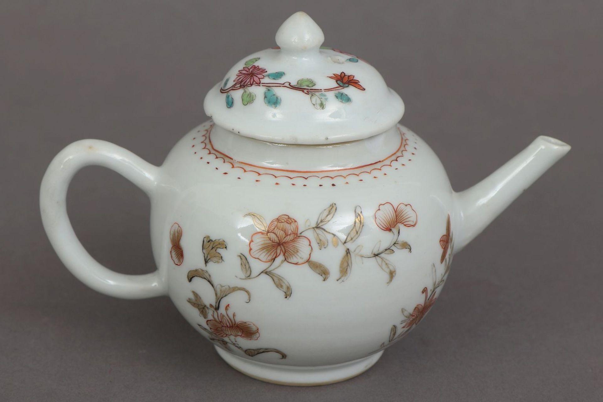 Kleines chinesisches Zeremonial-Teekännchen des 18. Jahrhunderts (Qing Dynastie) - Image 3 of 5