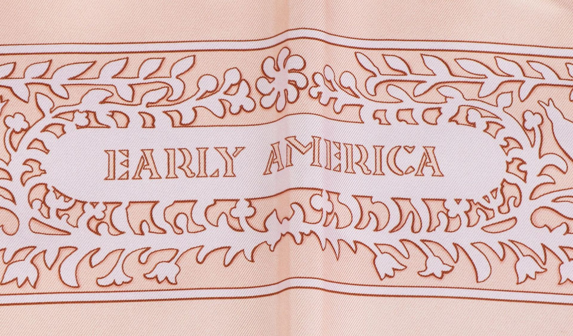 HERMES Seidentuch ¨Early America¨ by F. DE LA PERRIERE - Image 3 of 6