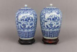 Paar chinesische Vorratsgefäße der Qing Dynastie (1644-1912)