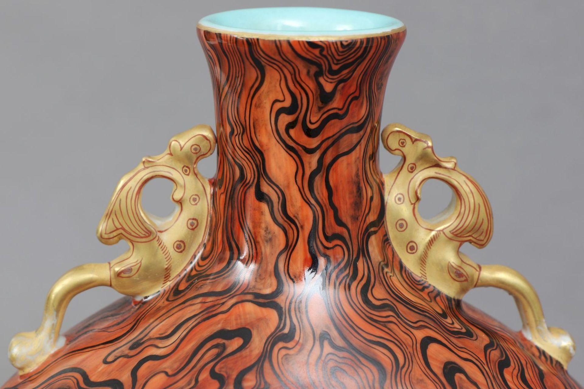 Chinesische Vase in Pilgerflaschen-Form - Image 4 of 5