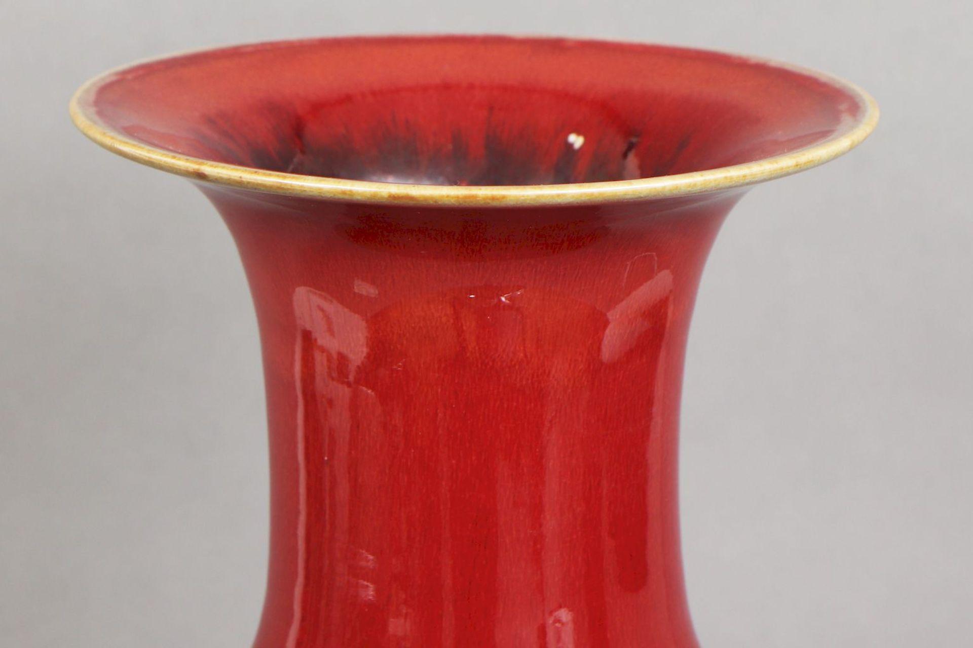 Große chinesische ¨sange-de-boeuf¨(Ochsenblut) Vase - Image 2 of 5