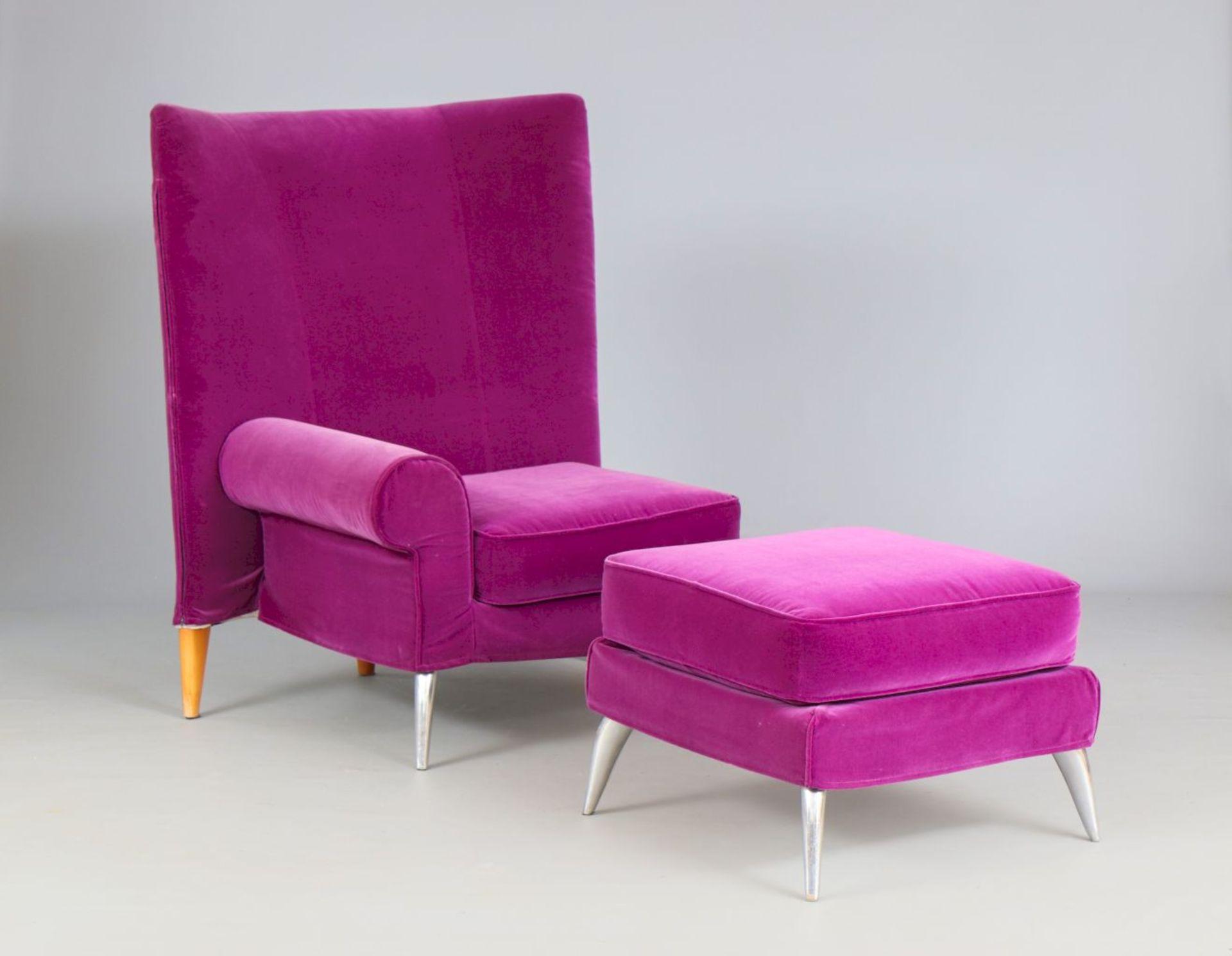 PHILIPPE STARCK Sessel ¨Royalton¨ mit Fußhocker für DRIADE - Image 2 of 2