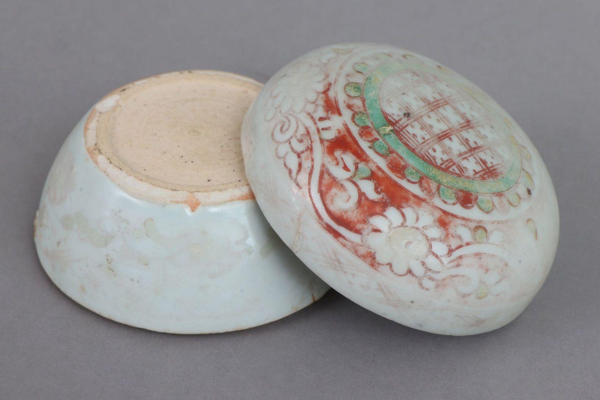 Chinesische Porzellan-Deckeldose - Image 3 of 4