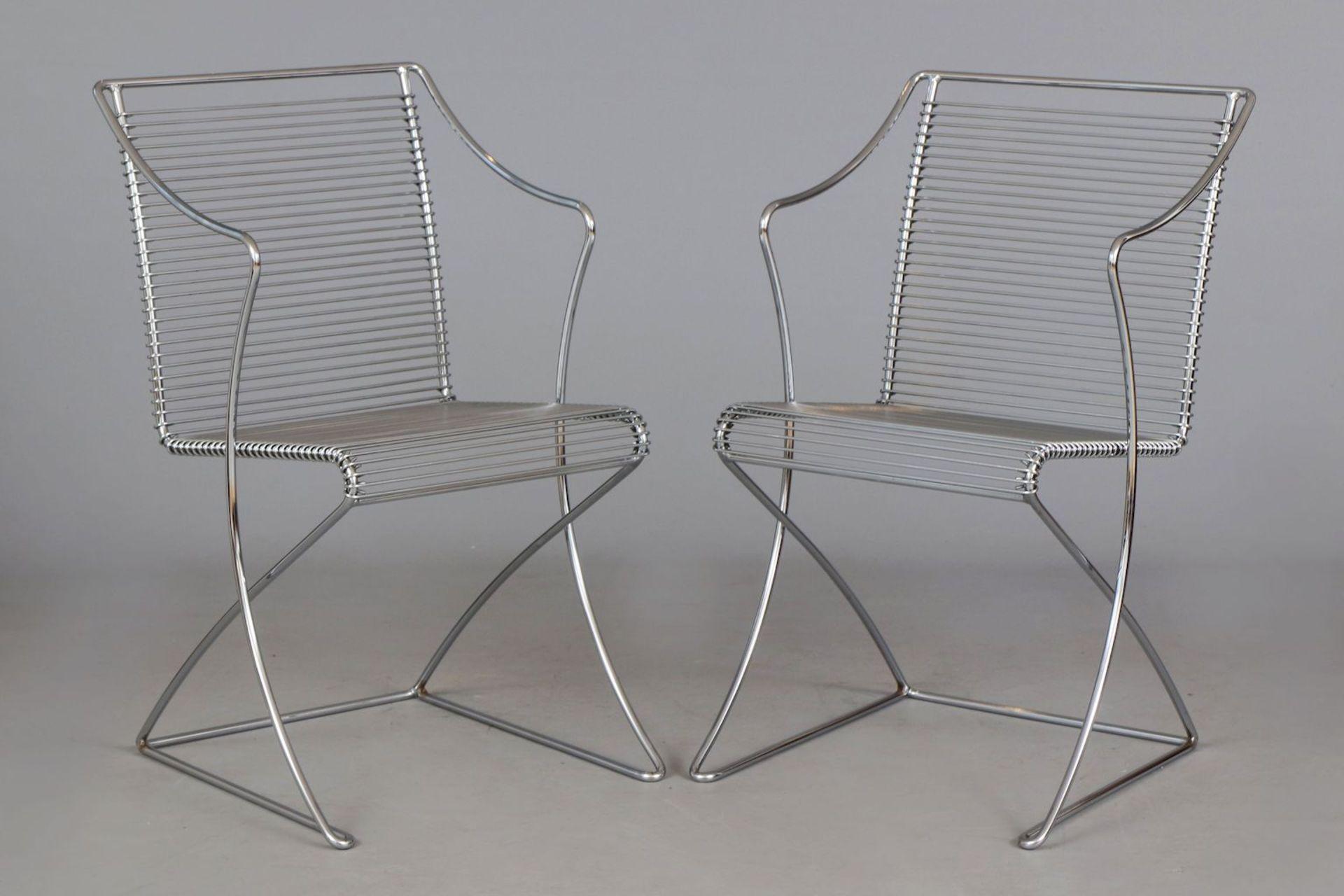 Paar TILL BEHRENS Kreuzschwinger-Stühle