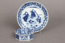 2 chinesische Porzellane mit Blaumalerei