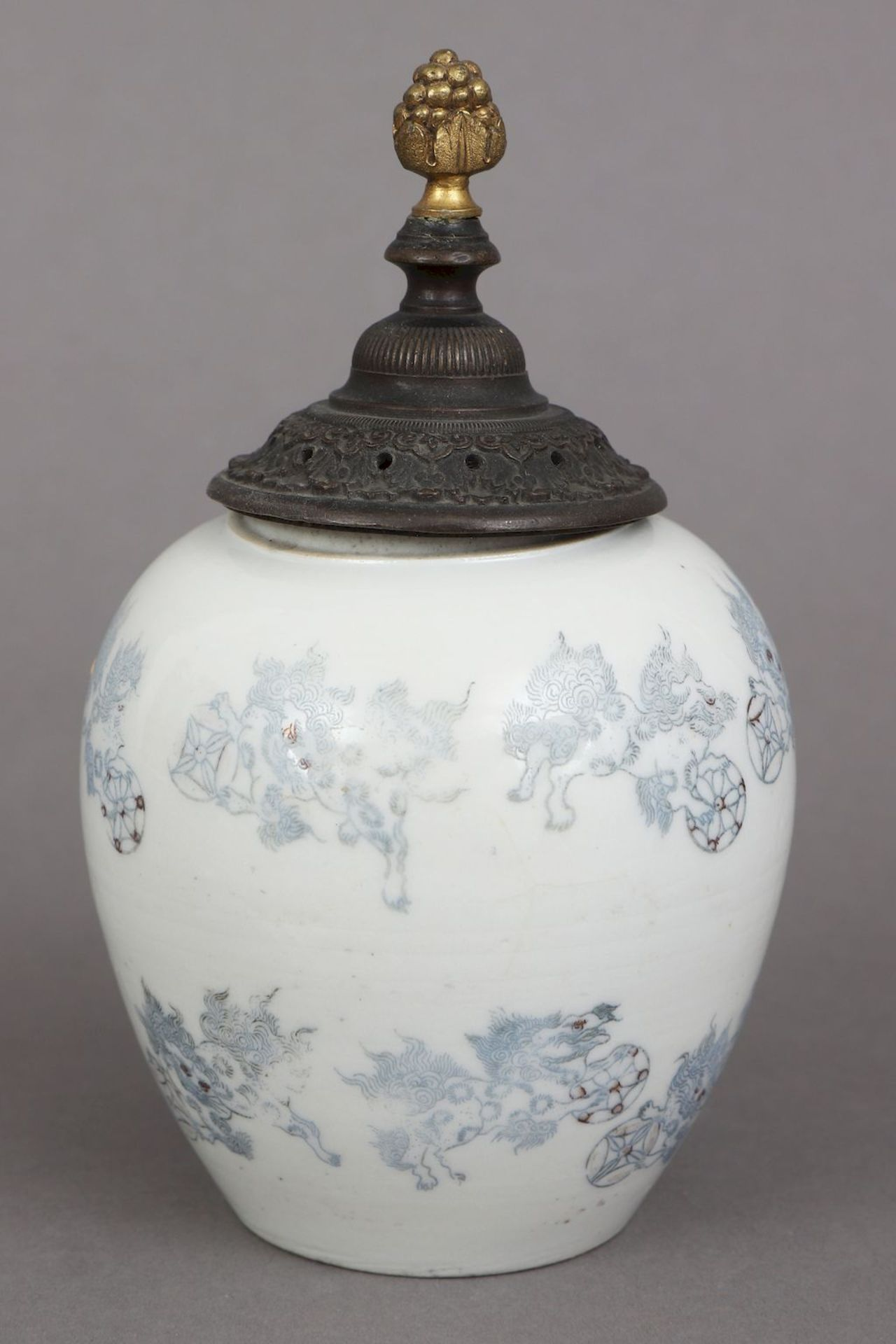 Chinesisches Deckelgefäß - Bild 2 aus 5