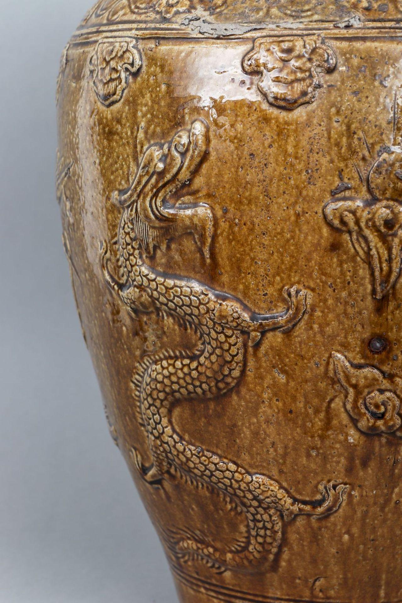 Großes chinesisches Vorratsgefäß (Martaban) - Bild 3 aus 5