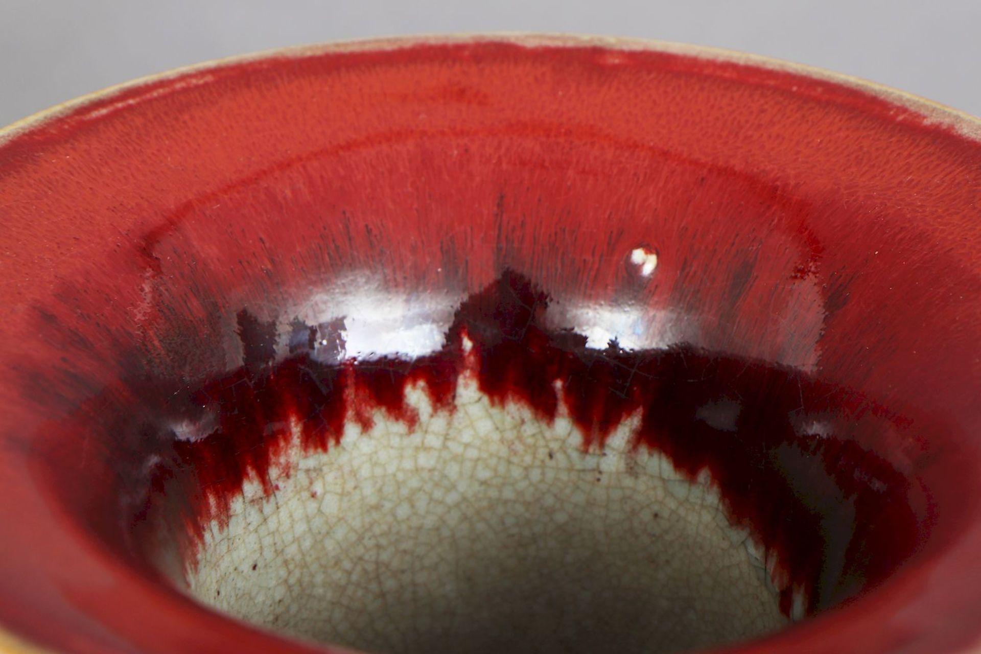 Große chinesische ¨sange-de-boeuf¨(Ochsenblut) Vase - Image 3 of 5