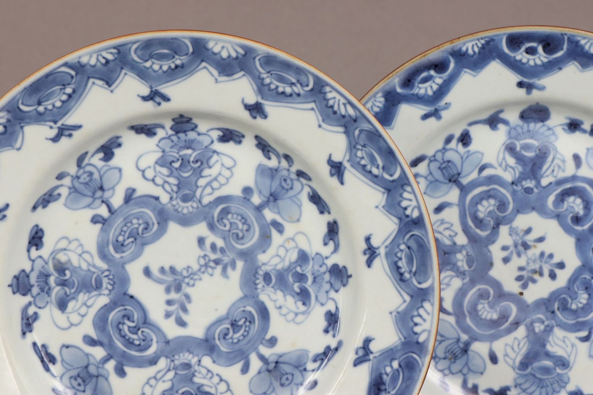 Paar chinesische Porzellanteller - Image 2 of 3