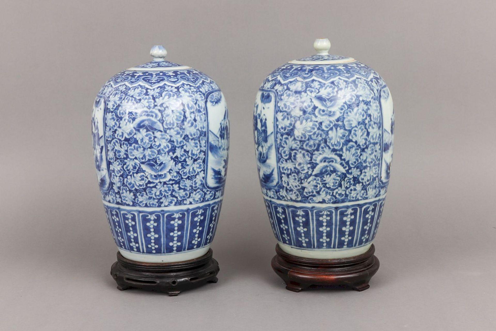 Paar chinesische Vorratsgefäße der Qing Dynastie (1644-1912) - Image 2 of 4