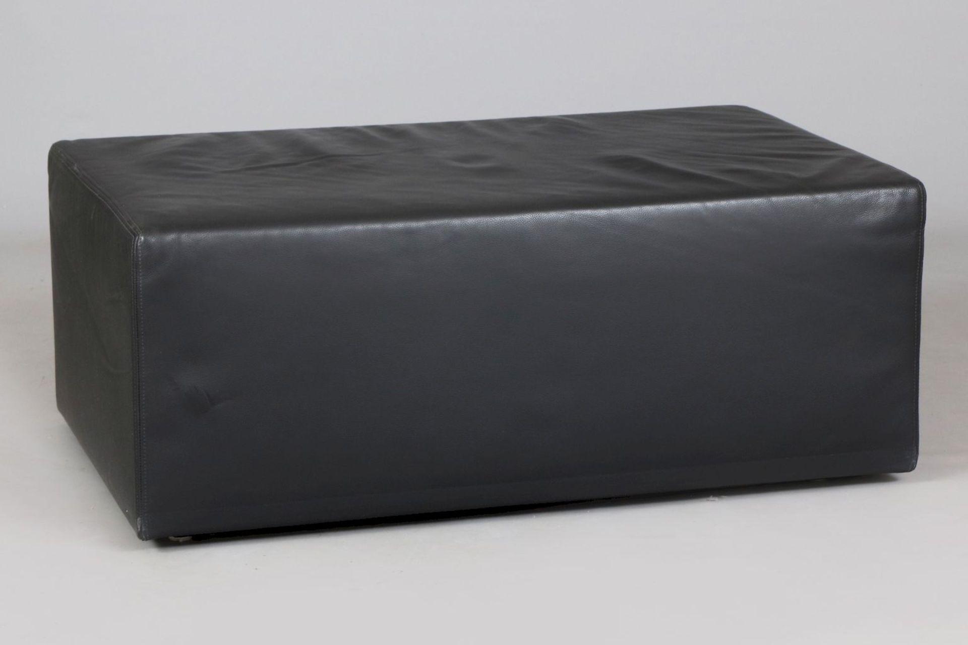 Leder-Pouf (Sitzmöbel oder Couchtisch)