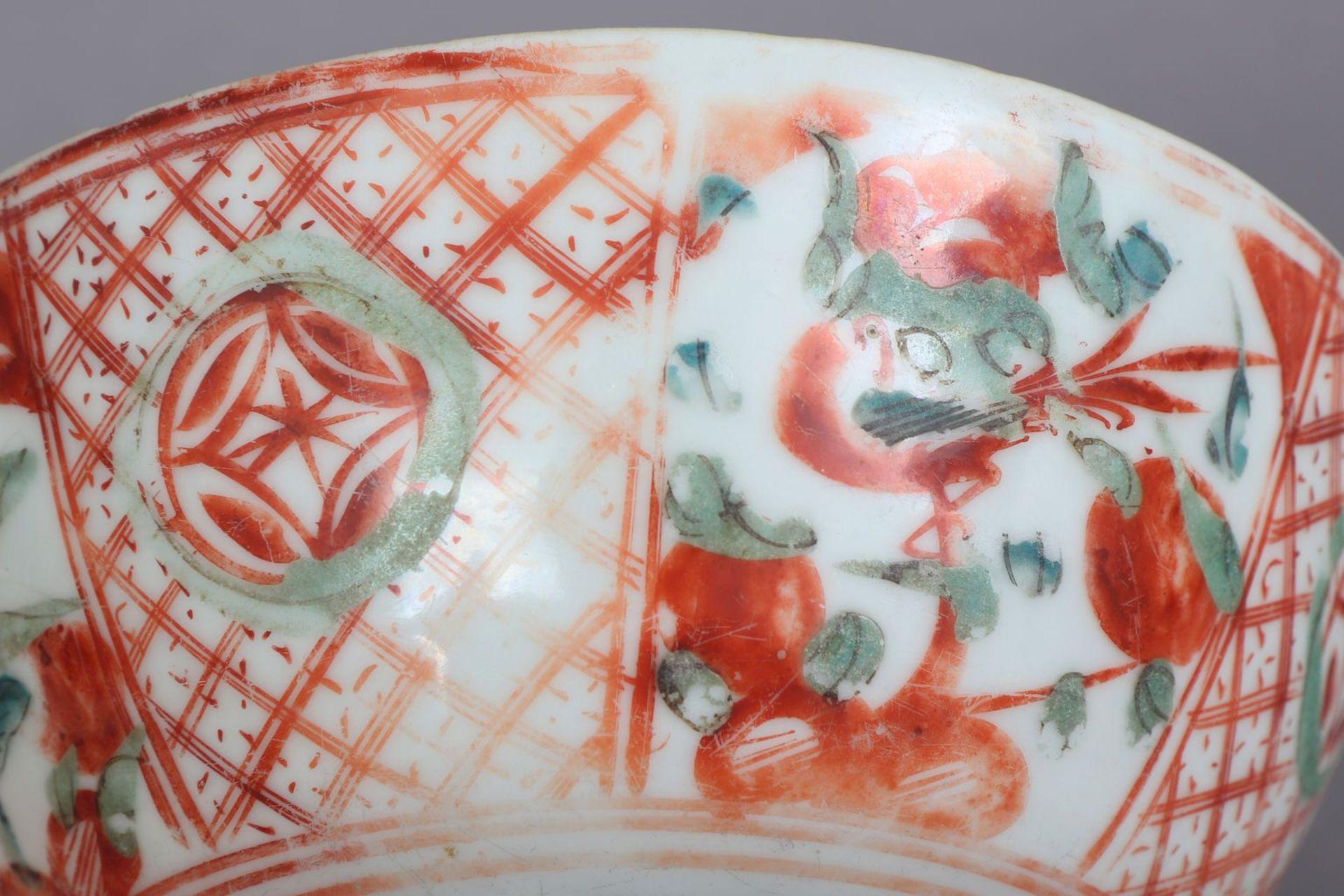 Chinesische Porzellanschale mit Pfirsichdekor - Image 3 of 5