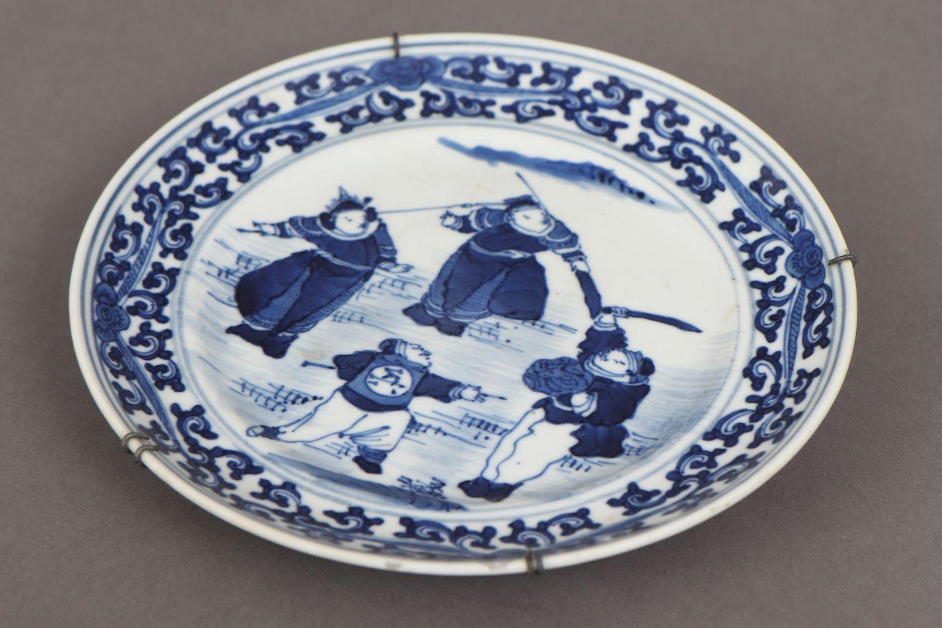 2 chinesische Porzellane mit Blaumalerei - Bild 3 aus 7